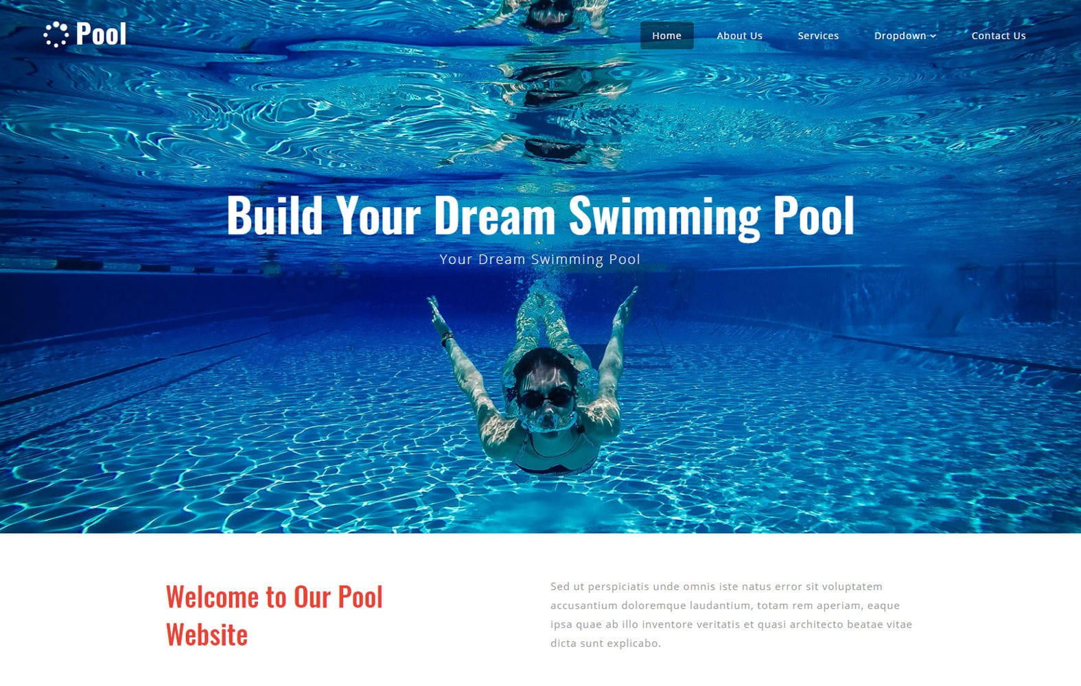 Pool a Sports Category Bootstrap Responsive Web Template Mobile website template Free
