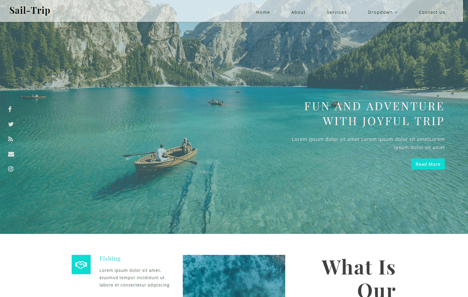 Sail Trip a Travel Category Bootstrap Responsive Web Template Mobile website template Free