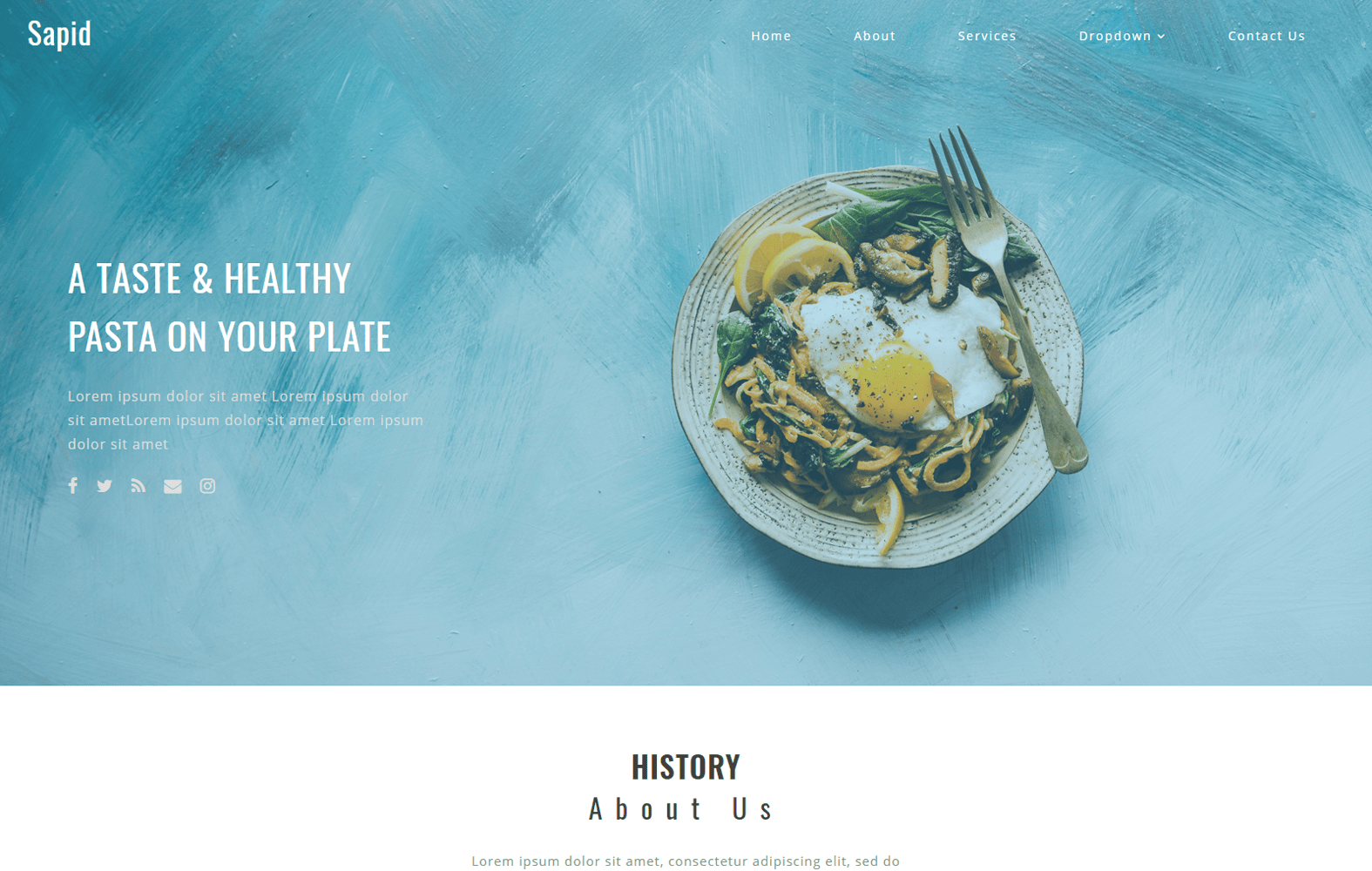 Sapid a Restaurant Category Bootstrap Responsive Web Template Mobile website template Free