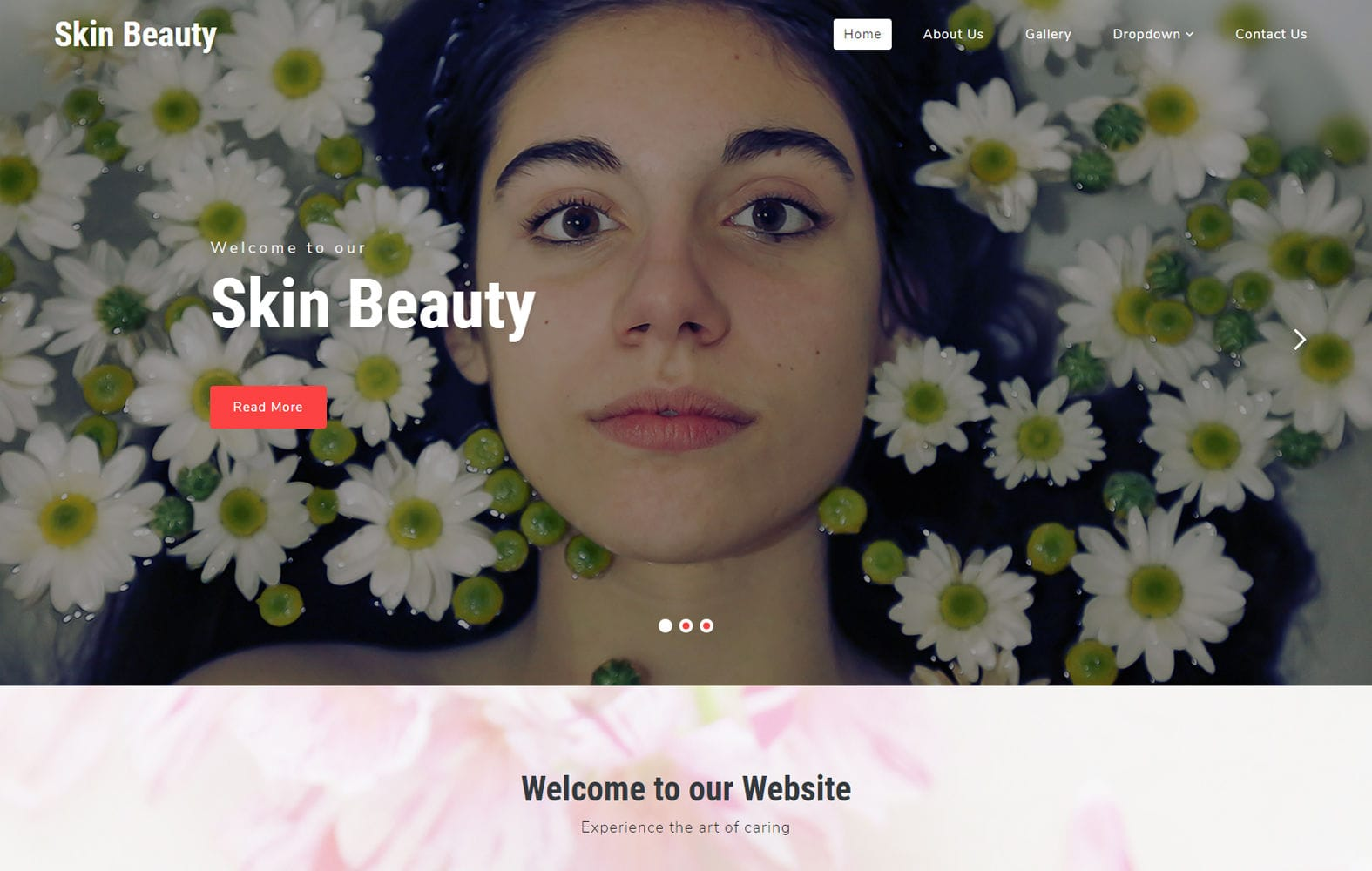 Skin Beauty a Beauty & Spa Category Bootstrap Responsive Web Template Mobile website template Free