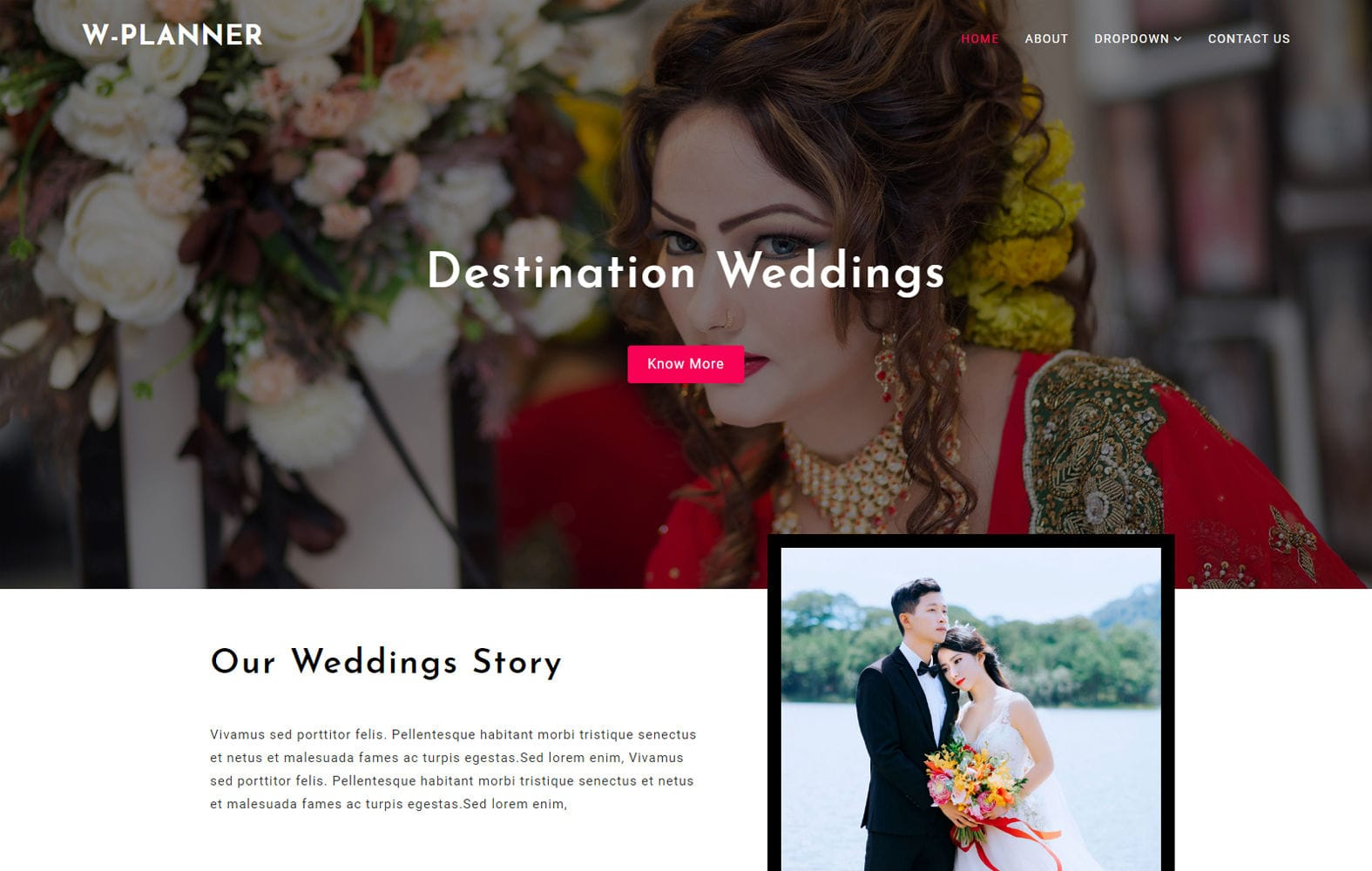 Wedding Planner a Wedding Category Bootstrap Responsive Web Template Mobile website template Free