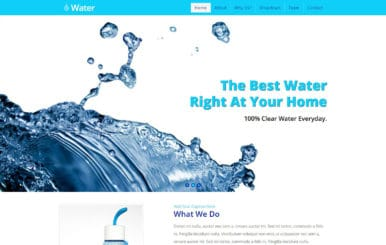 Water a Home Maintenance & Service Category Bootstrap Responsive Web Template