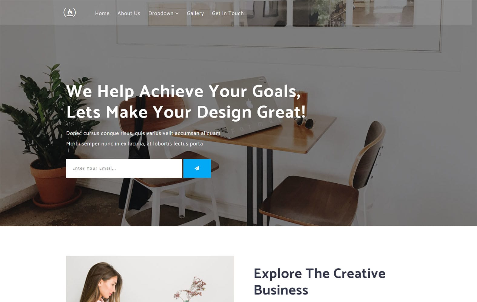 Achieve a Flat Bootstrap Responsive Web Template Mobile website template Free