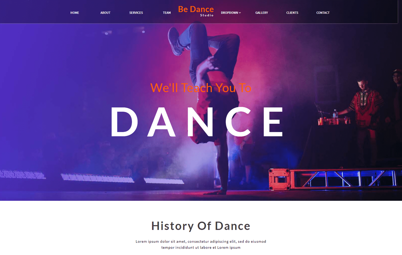 Be Dance an Entertainment Category Bootstrap Responsive Web Template Mobile website template Free