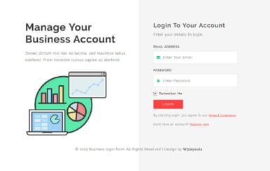 Business Login Form Flat Responsive Widget Template