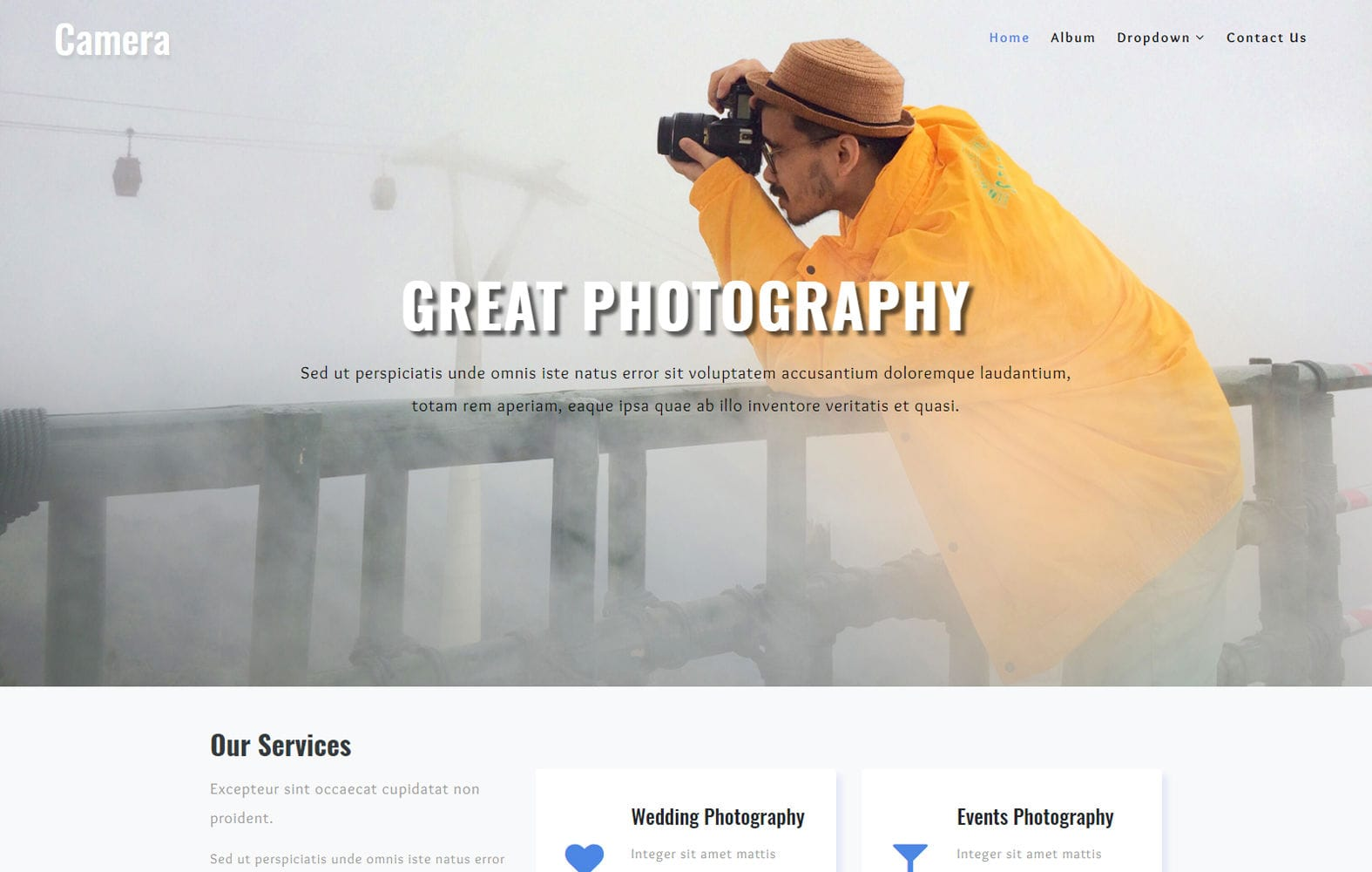 Camera a Photo Gallery Category Bootstrap Responsive Web Template Mobile website template Free