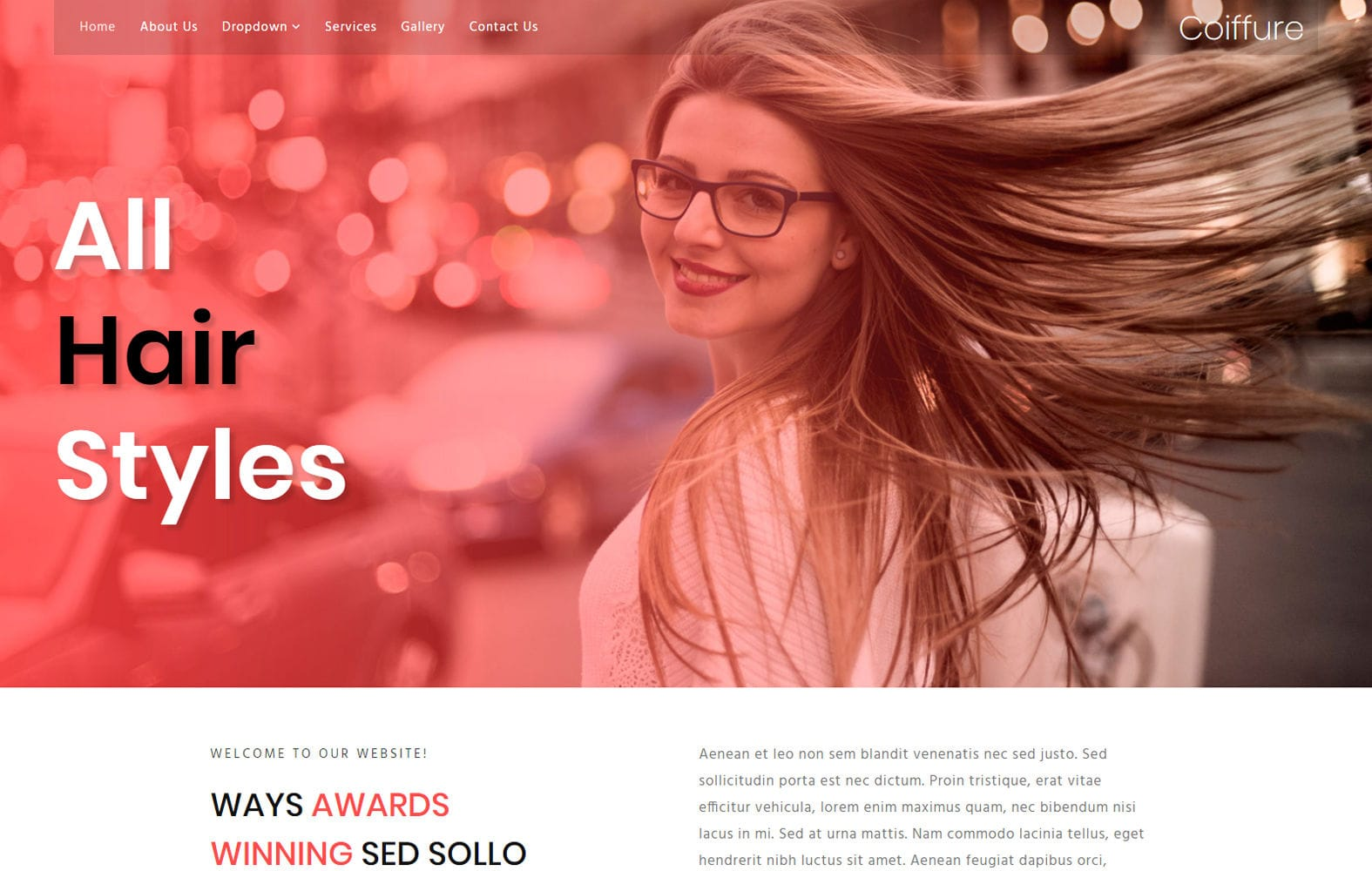 Coiffure a Beauty and Spa Category Bootstrap Responsive Web Template Mobile website template Free