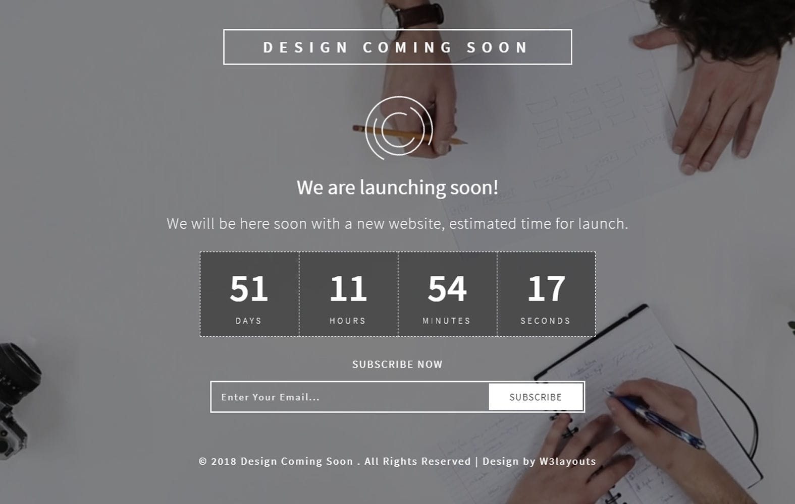 Design Coming Soon Responsive Widget Template Mobile website template Free