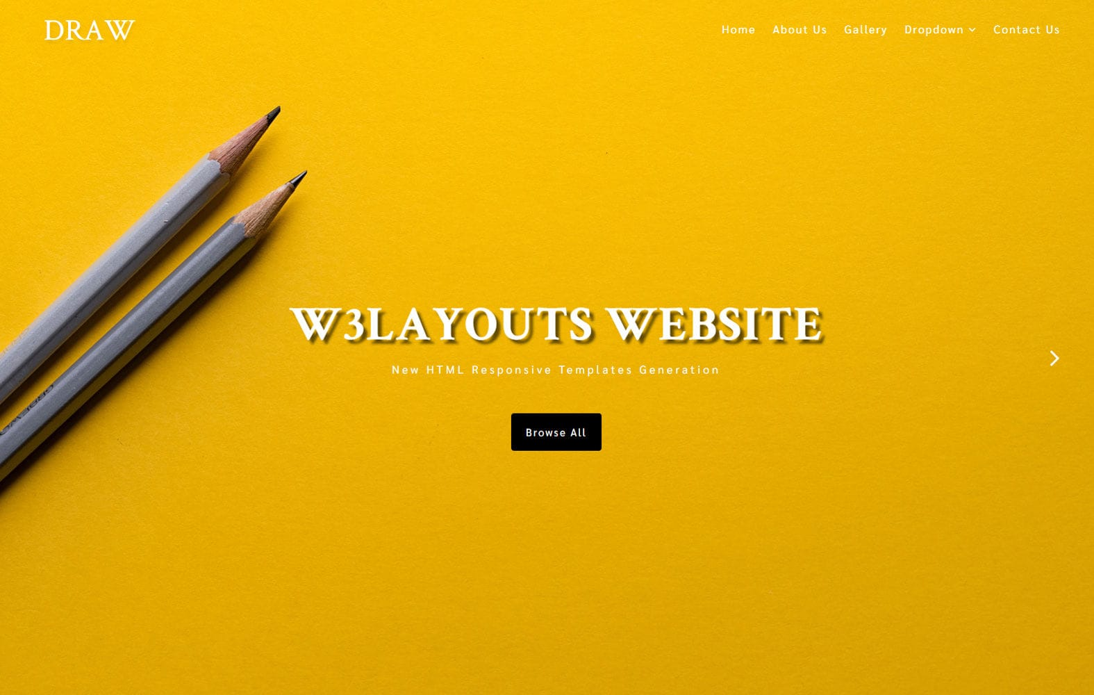 Draw an Education Category Bootstrap Responsive Web Template