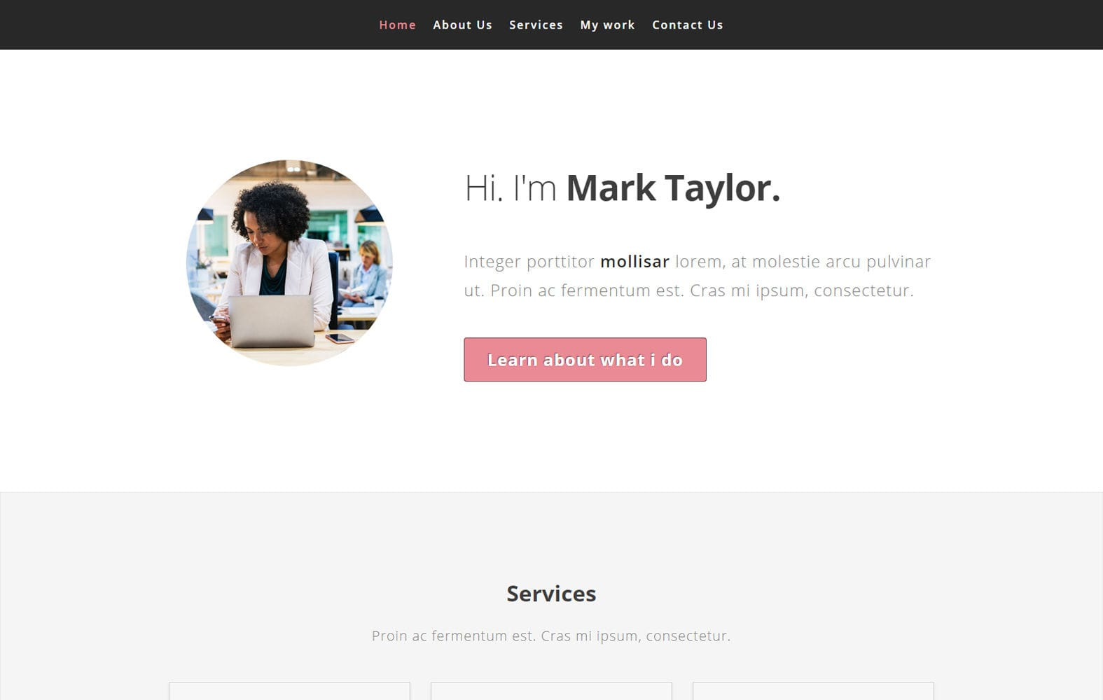 Exclusive a Personal Category Bootstrap Responsive Web Template