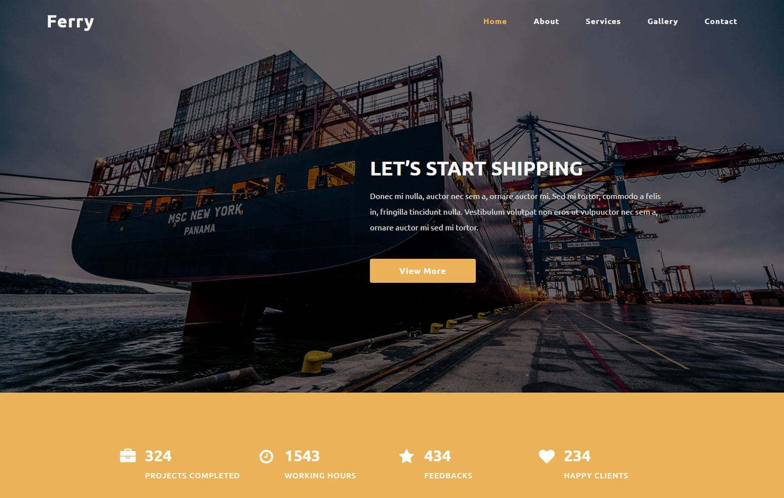 Ferry a Transport Category Bootstrap Responsive Web Template Mobile website template Free