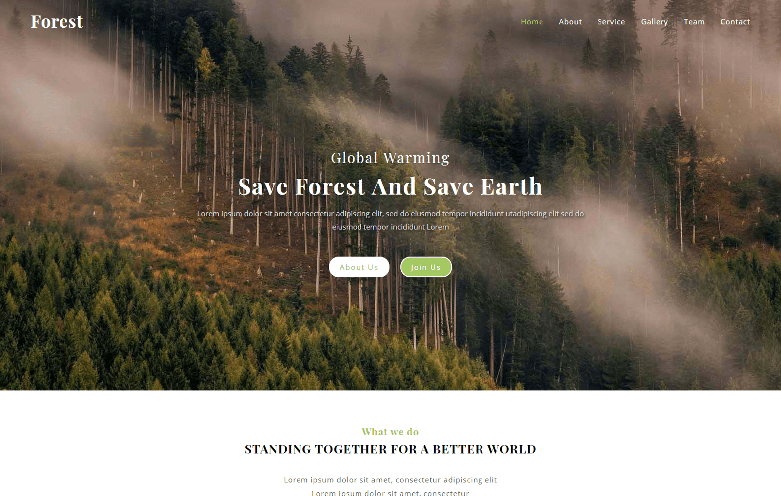 Forest a Society Category Bootstrap Responsive Web Template Mobile website template Free