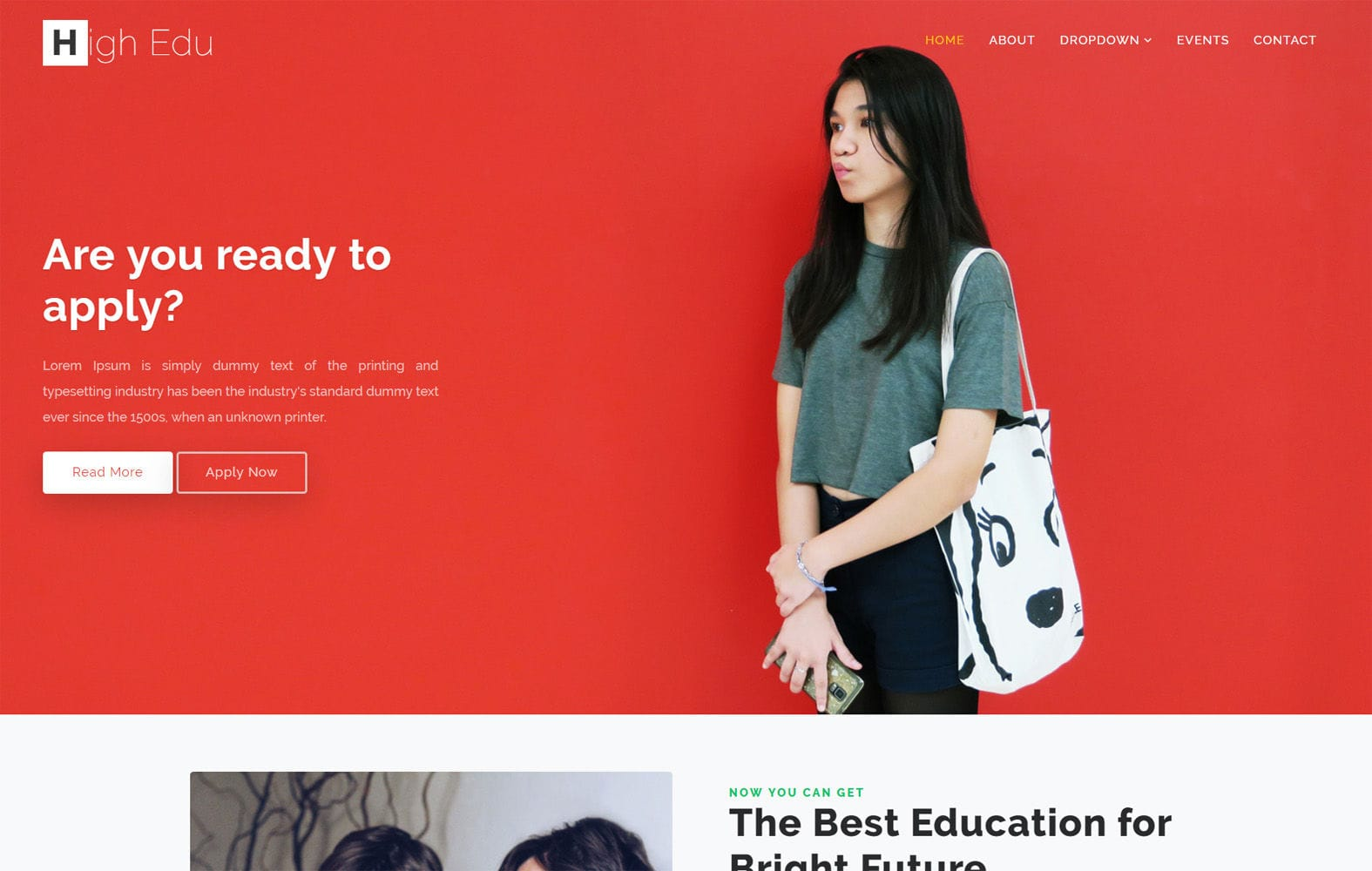 High Edu Education Category Bootstrap Responsive Web Template Mobile website template Free