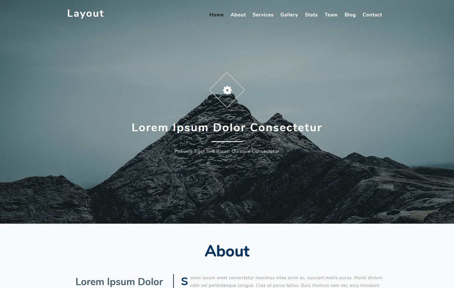 Layout a Flat Bootstrap Responsive Web Template Mobile website template Free
