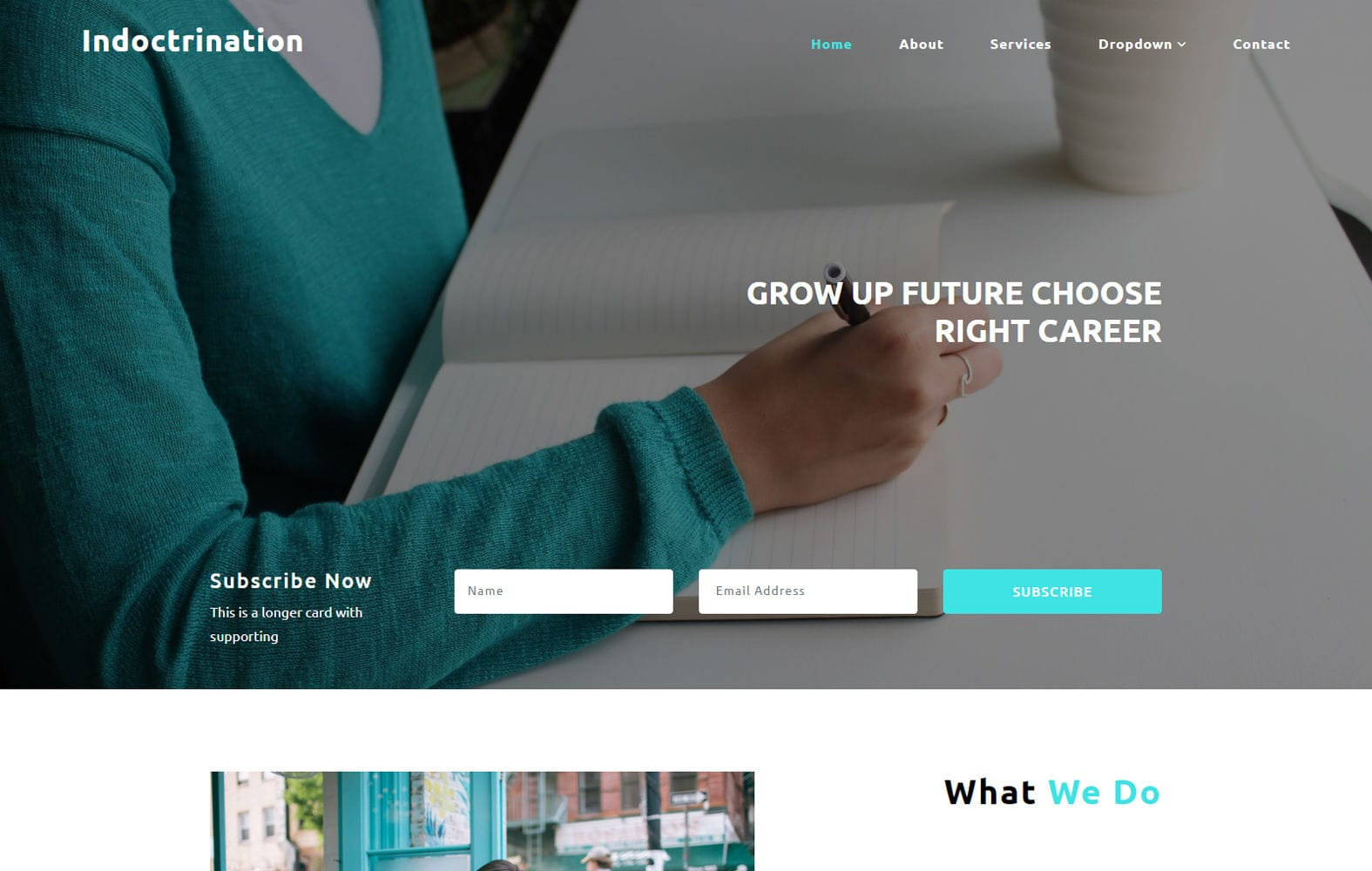 Indoctrination an Education Category Bootstrap Responsive Web Template Mobile website template Free