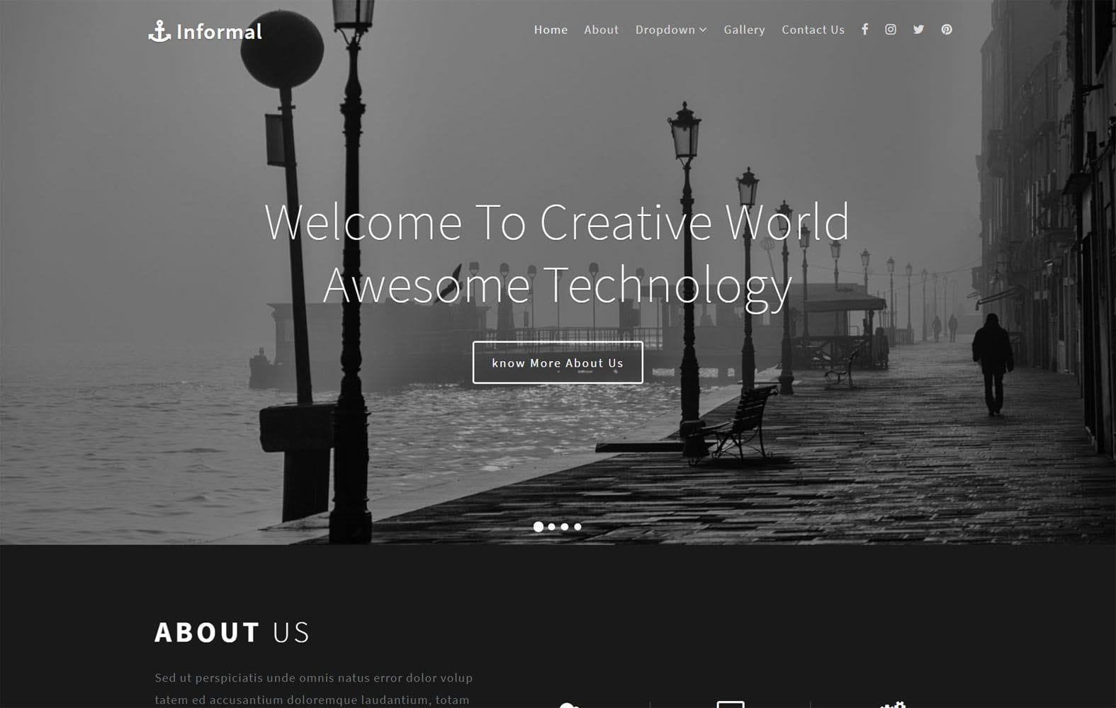 Informal a Multipurpose Flat Bootstrap Responsive Web Template Mobile website template Free