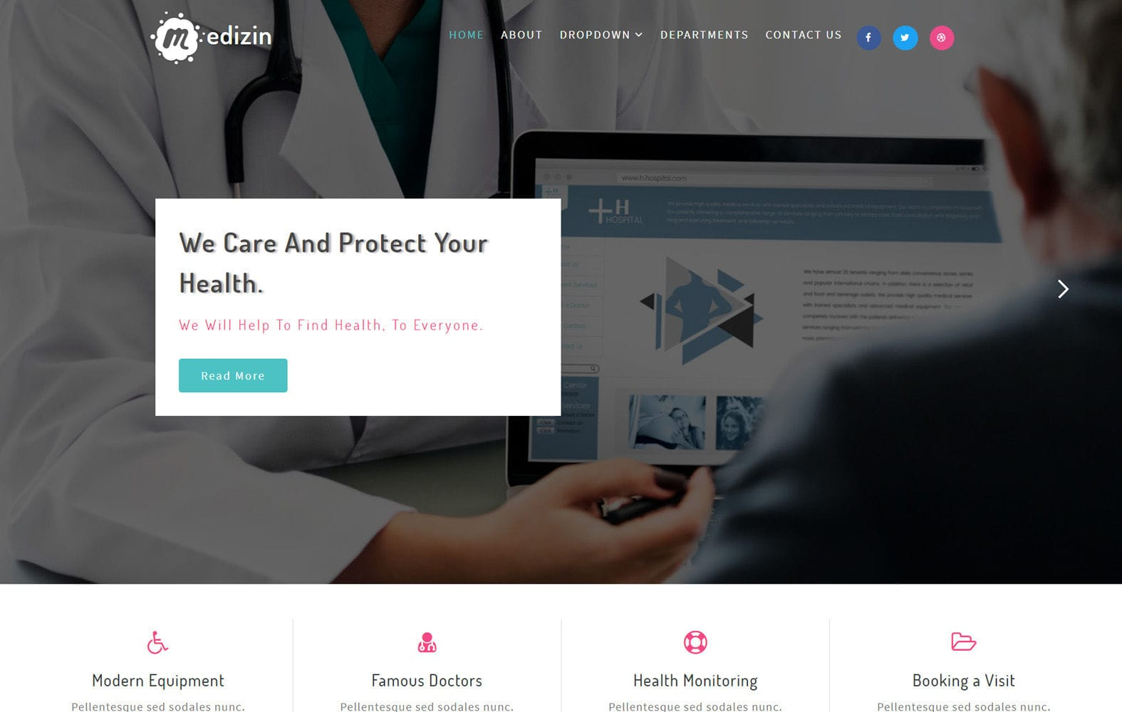 Medizin Medical Category Bootstrap Responsive Web Template Mobile website template Free