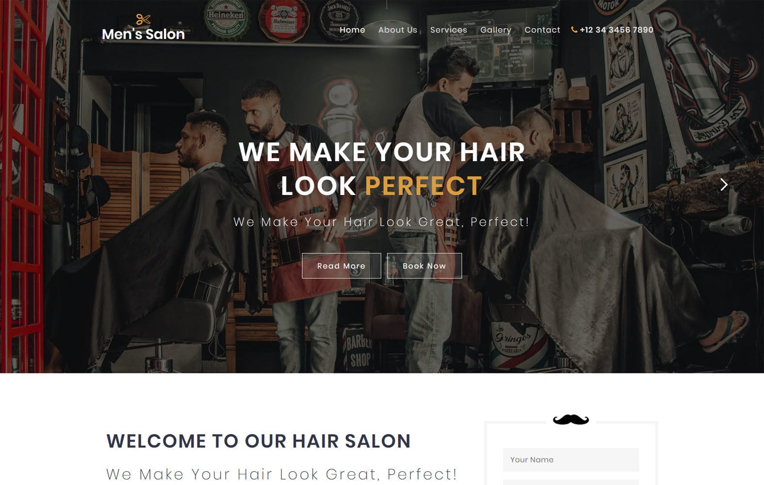 Men's Salon a Beauty Category Flat Bootstrap Responsive Web Template Mobile website template Free