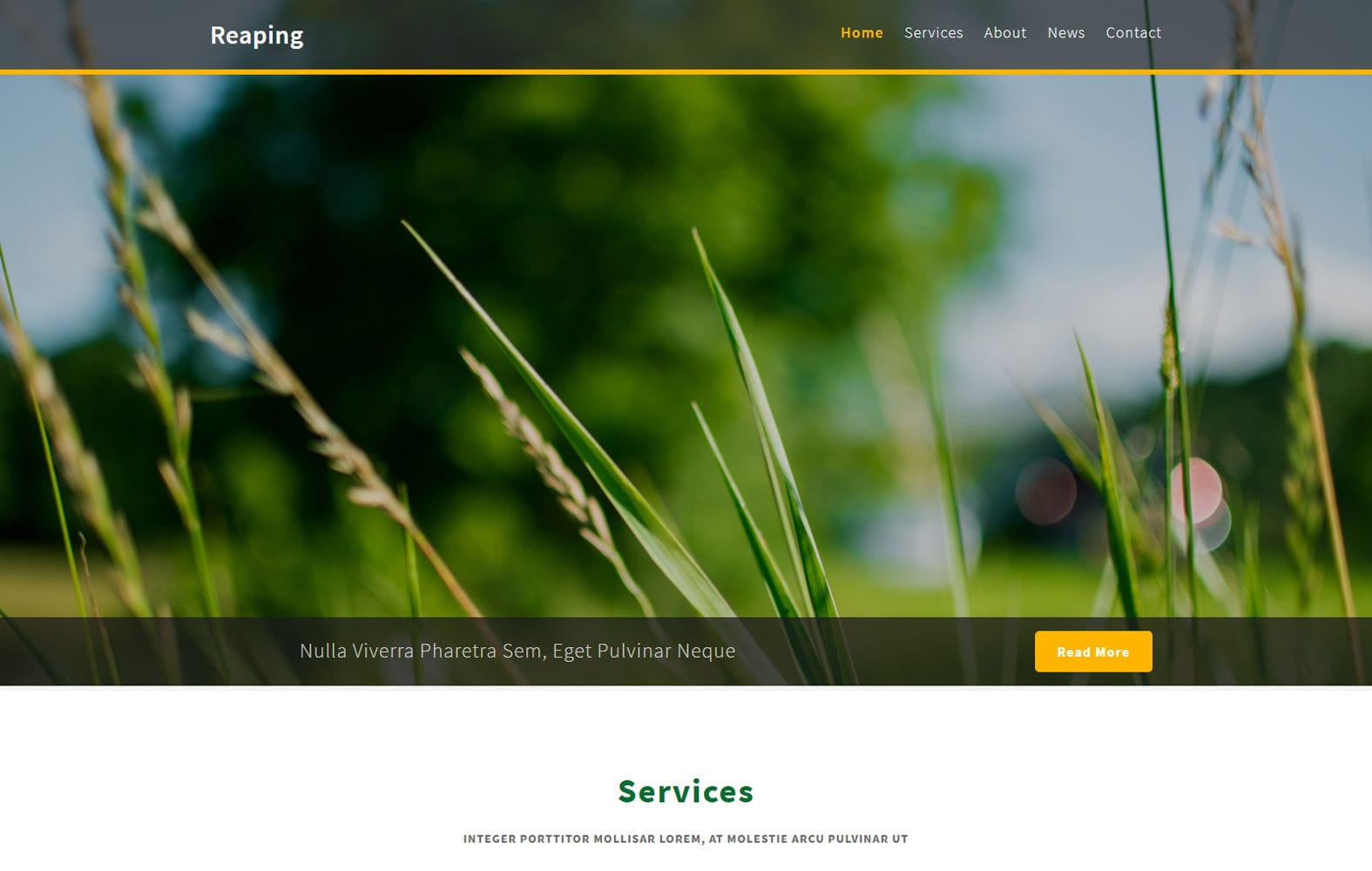Reaping – Agriculture Category Bootstrap Responsive Web Template Mobile website template Free