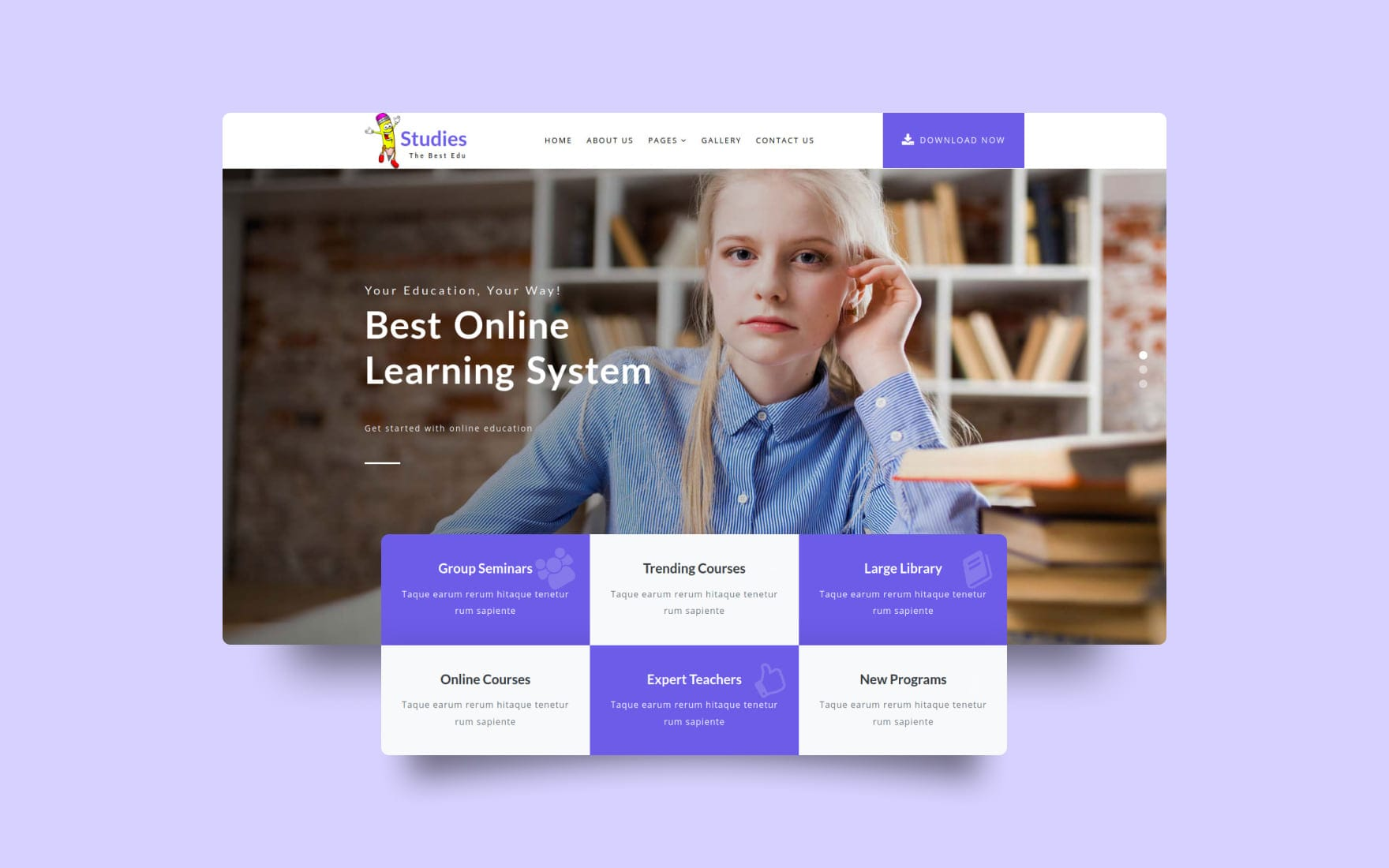 Studies an Education Category Bootstrap Responsive Web Template