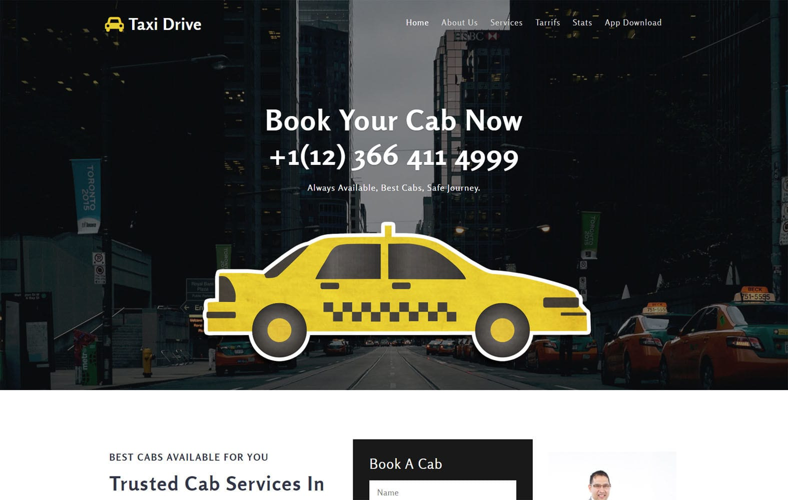 Taxi Drive a Transportation Category Bootstrap Responsive Web Template Mobile website template Free
