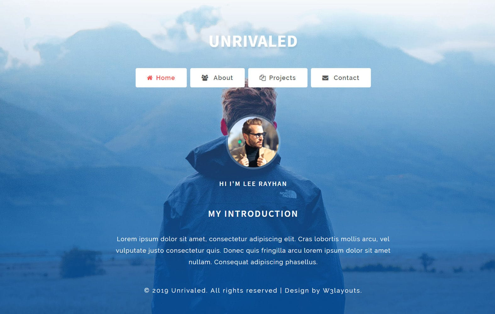 Unrivaled Personal Category Bootstrap Responsive Web Template Mobile website template Free