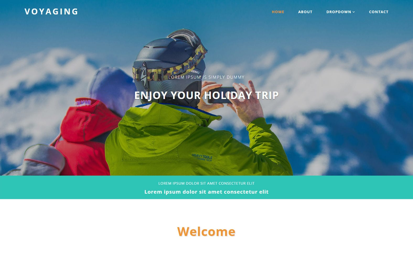 Voyaging a Travel Category Bootstrap Responsive Web Template Mobile website template Free