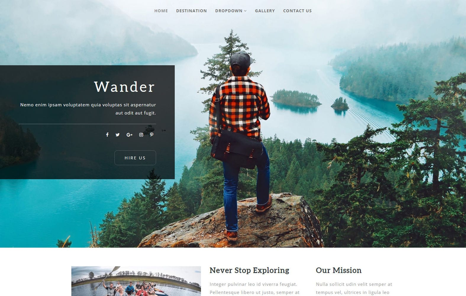 Wander a Travel Category Flat Bootstrap Responsive Web Template Mobile website template Free