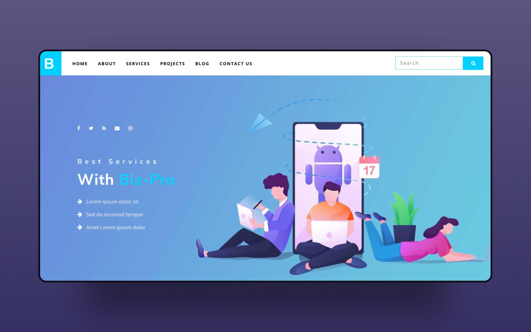 Biz Pro a Corporate Category Bootstrap Responsive Web Template