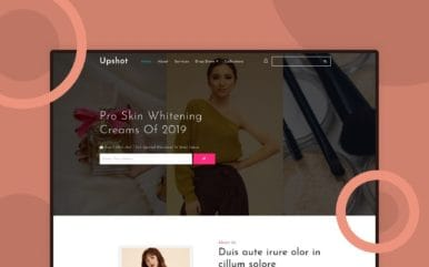 Upshot Beauty Category Bootstrap Responsive Template