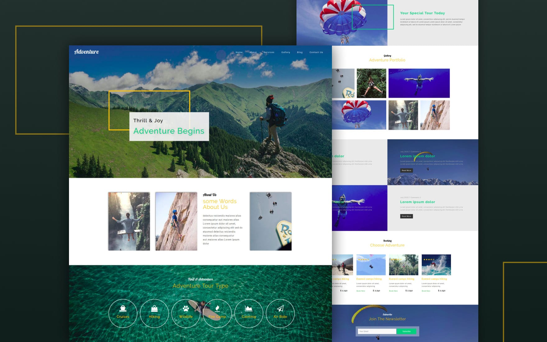 Adventure a Travel Category Bootstrap Responsive Web Template