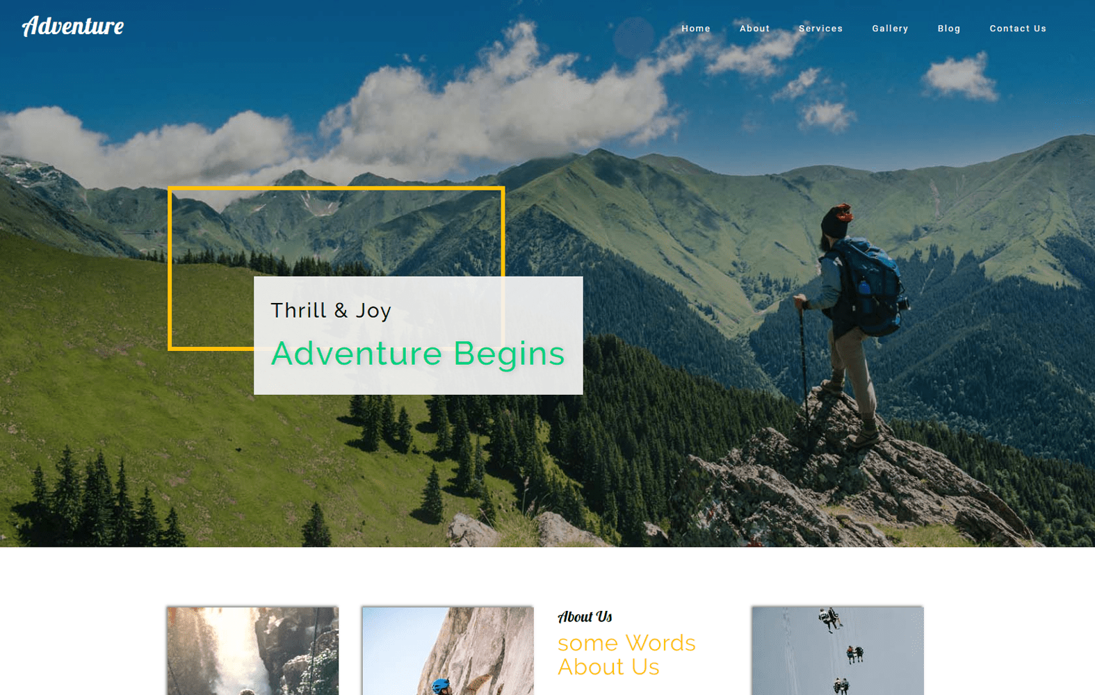 Adventure a Travel Category Bootstrap Responsive Web Template Mobile website template Free