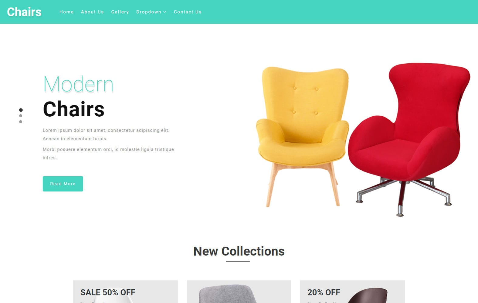 Chairs an Interior and Furniture Category Bootstrap Responsive Web Template