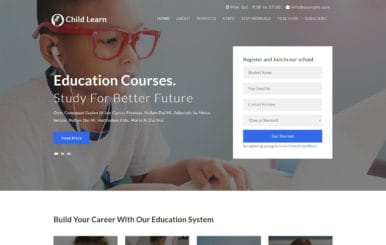 Child Learn an Education Category Flat Bootstrap Responsive Web Template