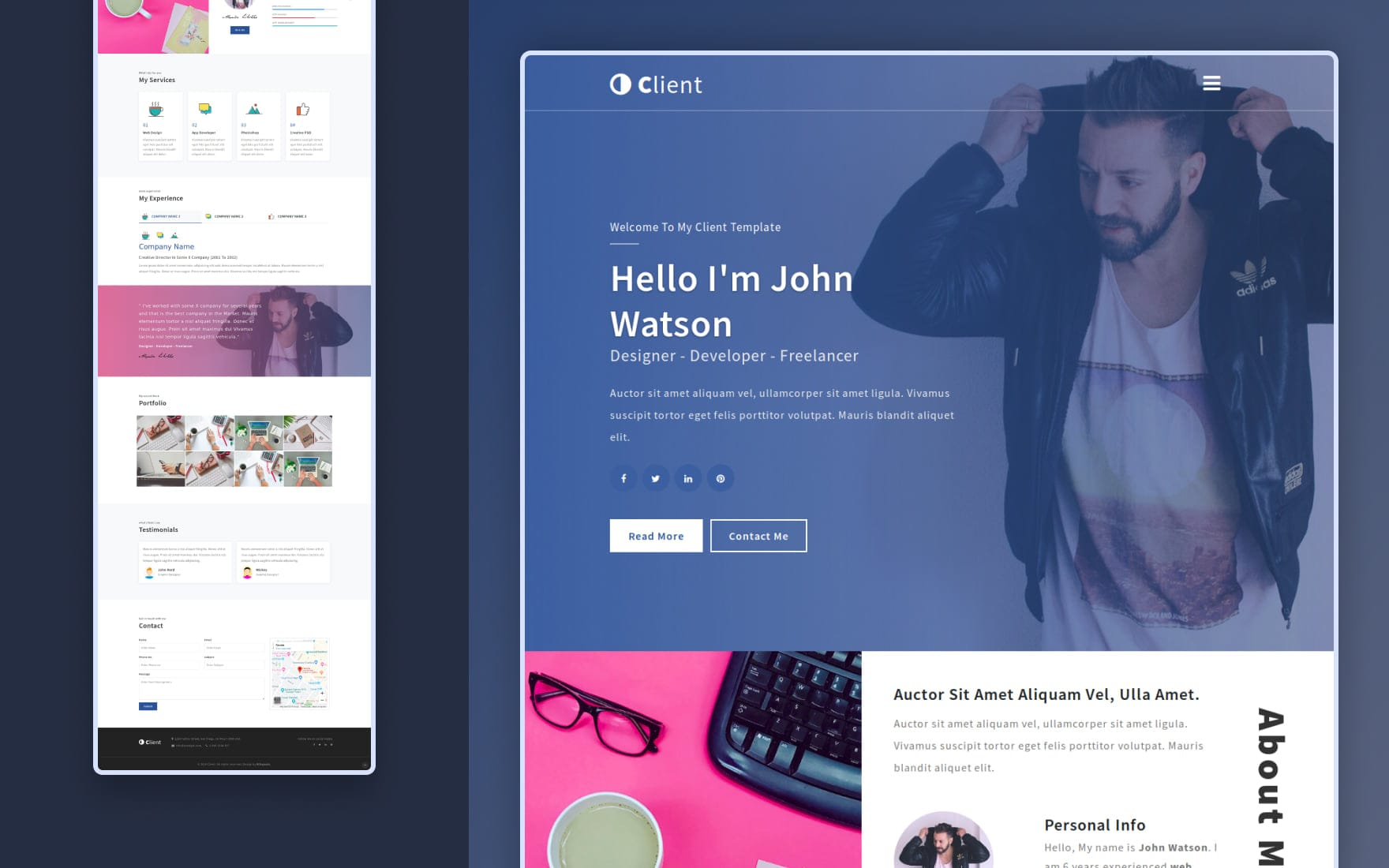 Client a Personal Category Flat Bootstrap Responsive Web Template