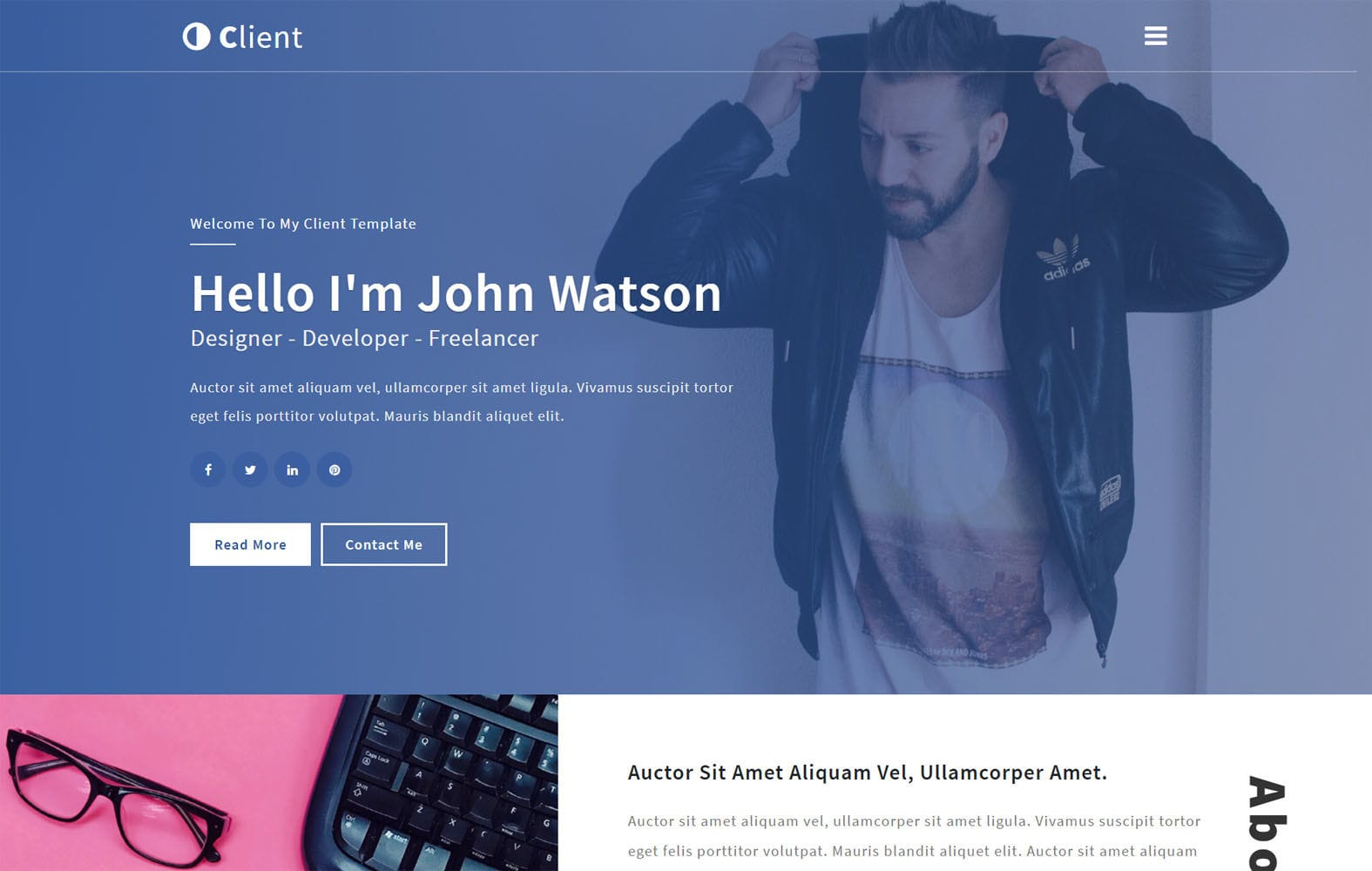 Client a Personal Category Flat Bootstrap Responsive Web Template Mobile website template Free