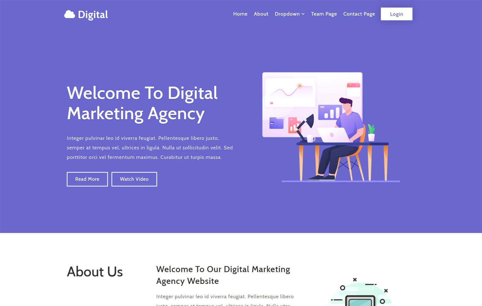 Digital a Business Category Flat Bootstrap Responsive Web Template Mobile website template Free