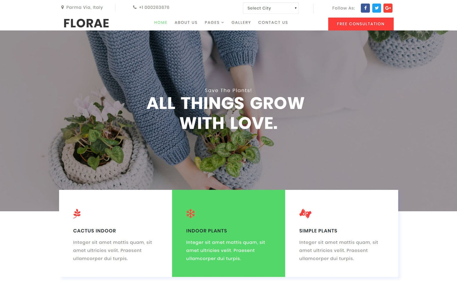 Florae Exterior Designs Category Bootstrap Responsive Website Template Mobile website template Free