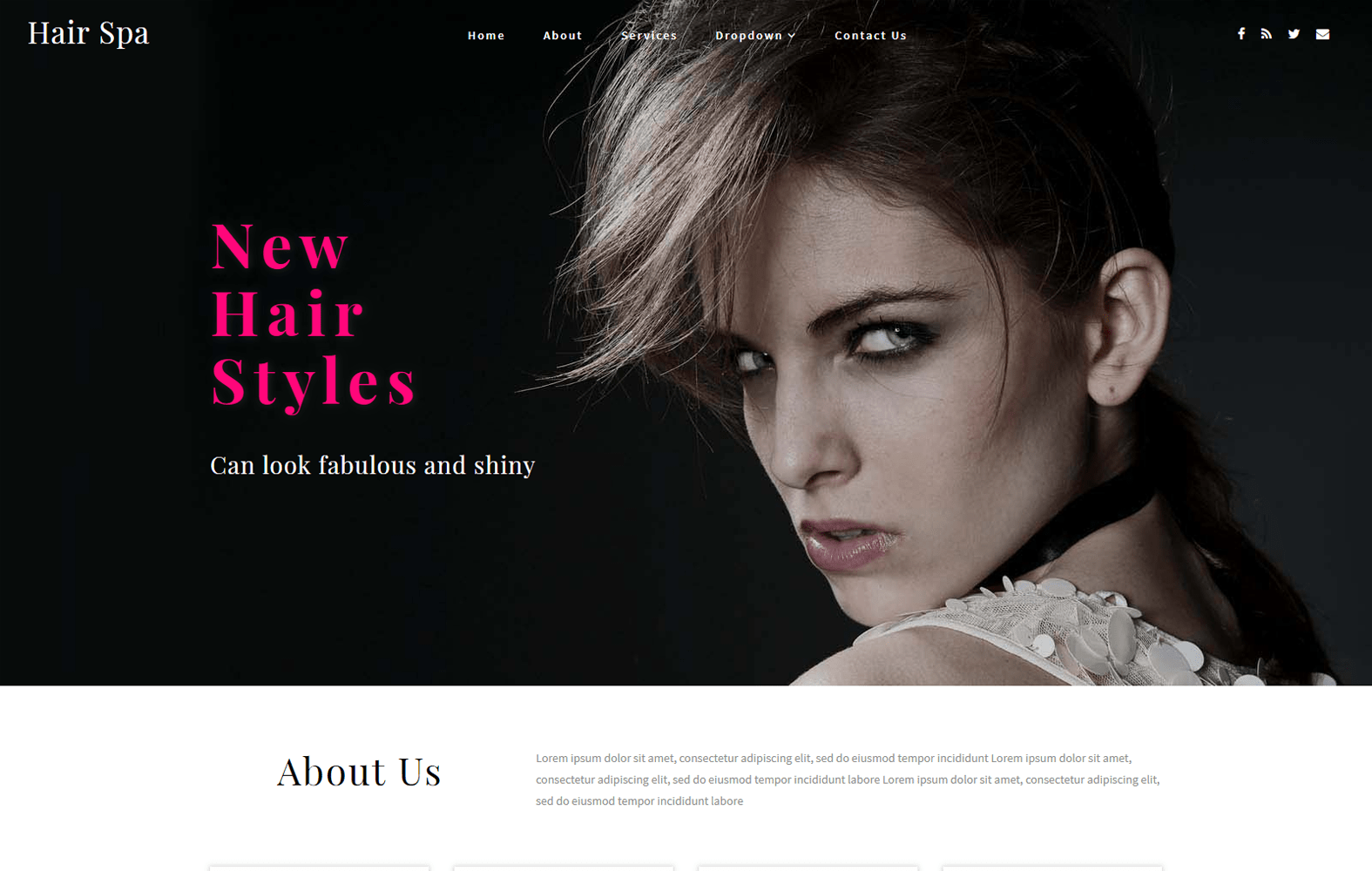 Hair Spa a Beauty and Spa Category Bootstrap Responsive Web Template Mobile website template Free