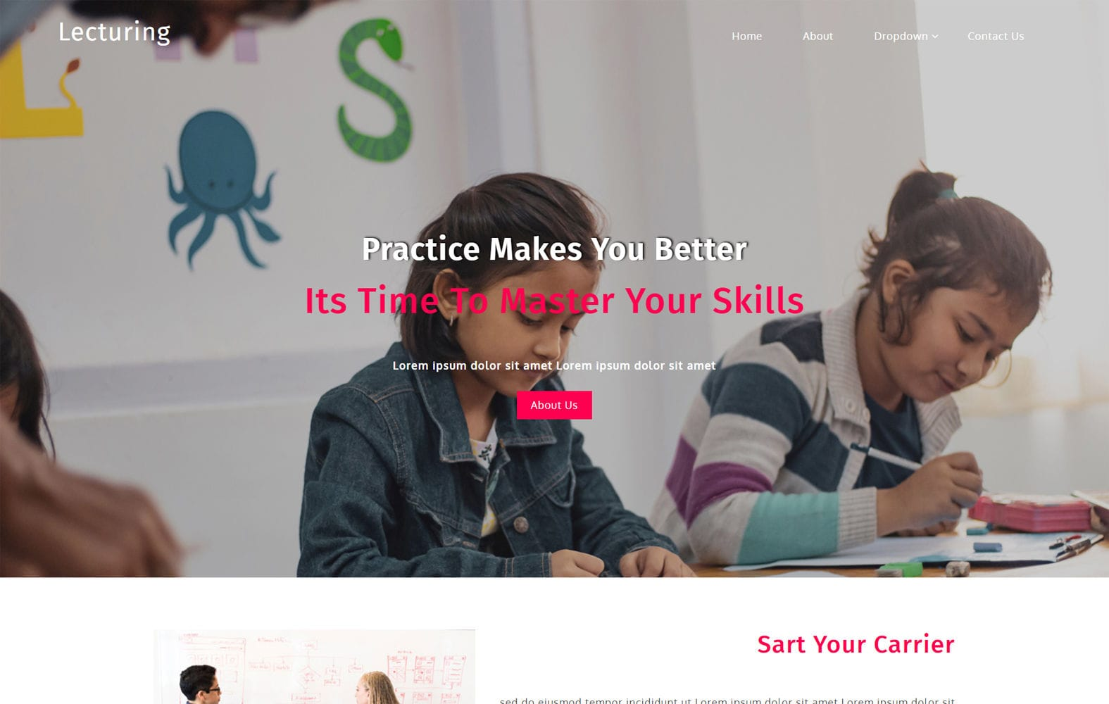 Lecturing an Education Category Bootstrap Responsive Web Template