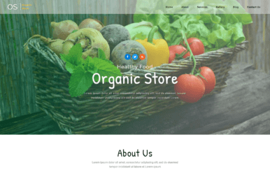 Organic Store – Agriculture Category Bootstrap Responsive web Template