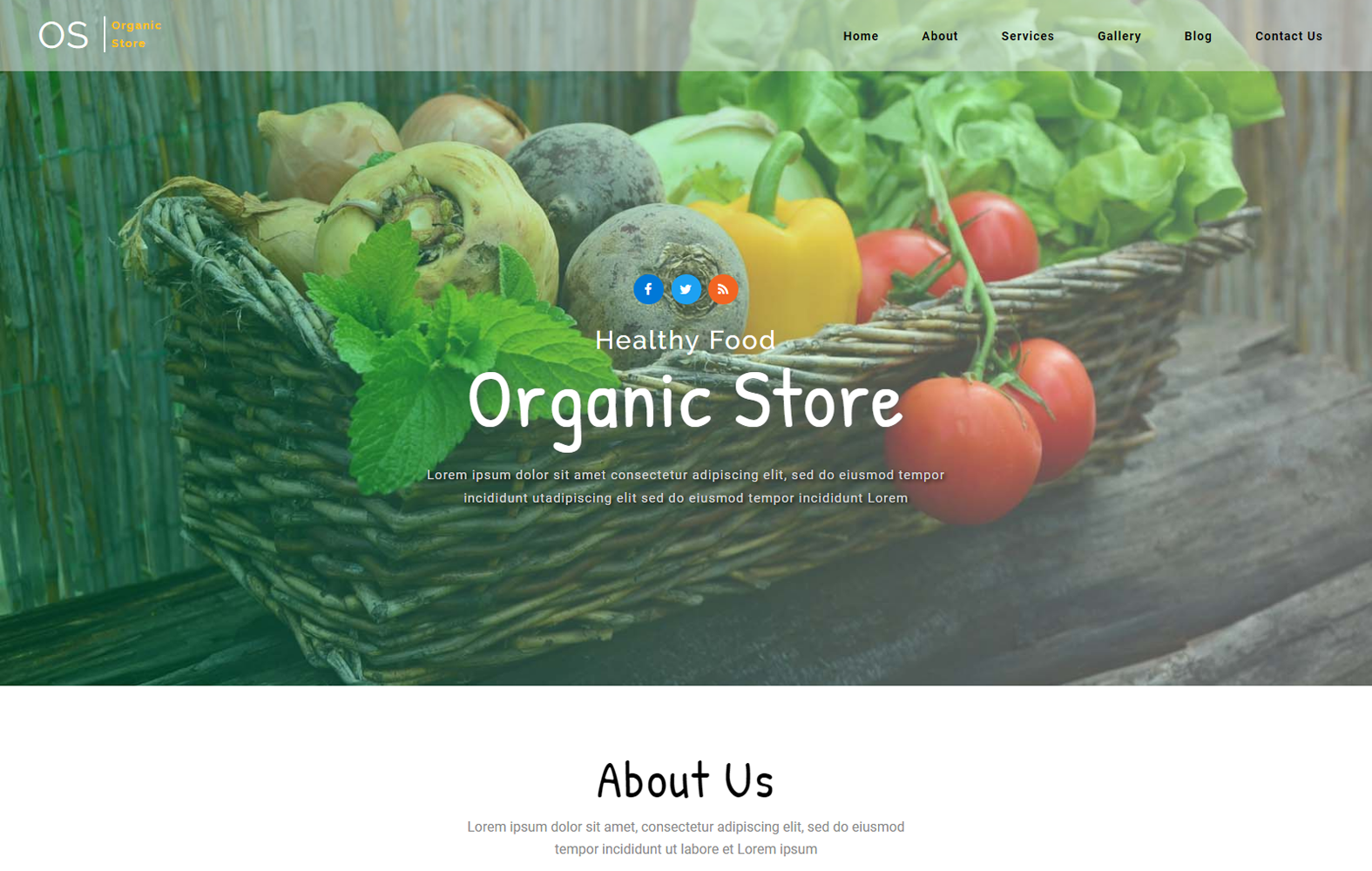 Organic Store – Agriculture Category Bootstrap Responsive web Template Mobile website template Free