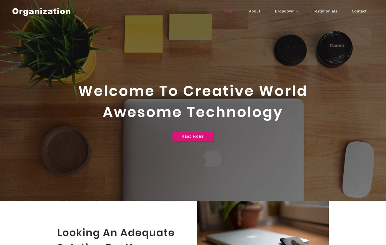 Organization a Corporate Category Bootstrap Responsive Web Template