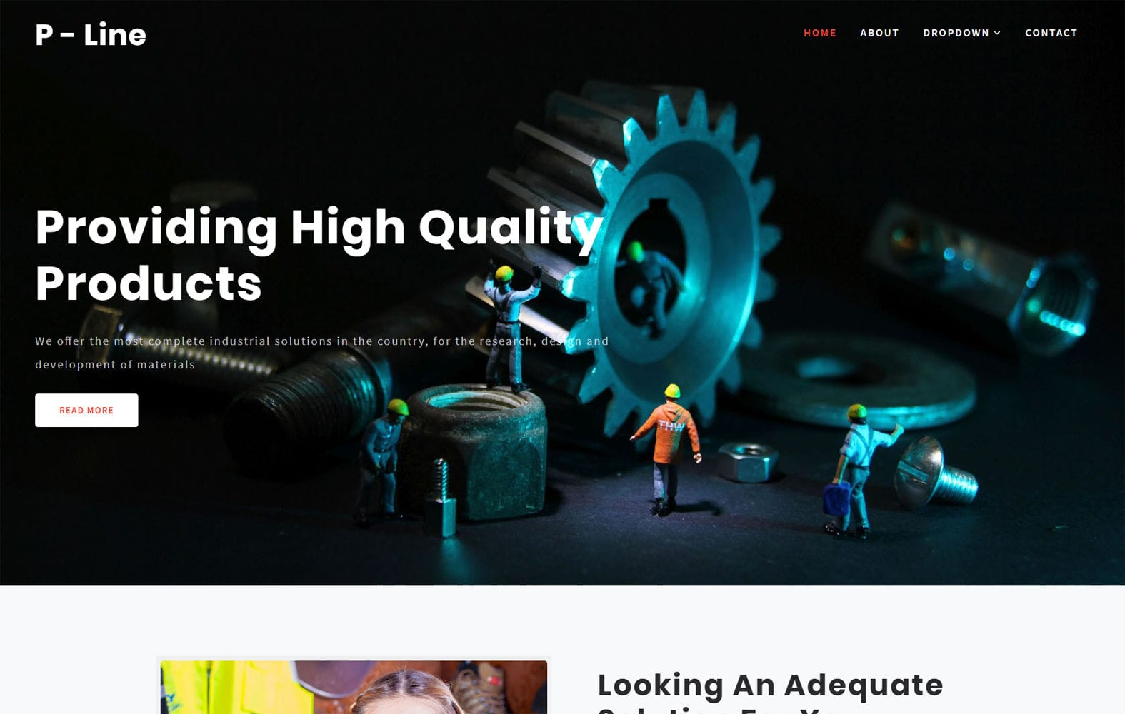 Production Line an Industrial Category Bootstrap Responsive Web Template Mobile website template Free