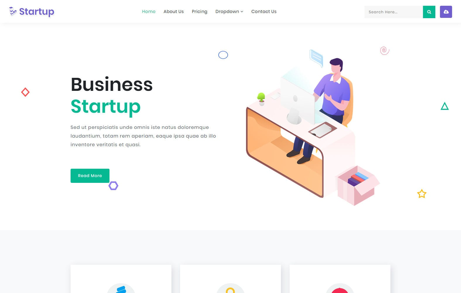 Startup a Corporate Category Bootstrap Responsive Web Template Mobile website template Free