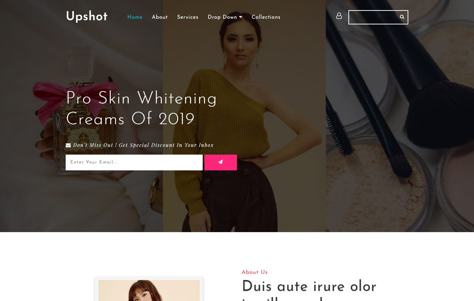 Upshot Beauty Category Bootstrap Responsive Template Mobile website template Free