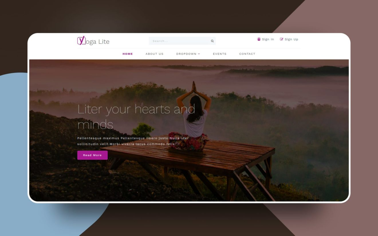 yoga lite website template