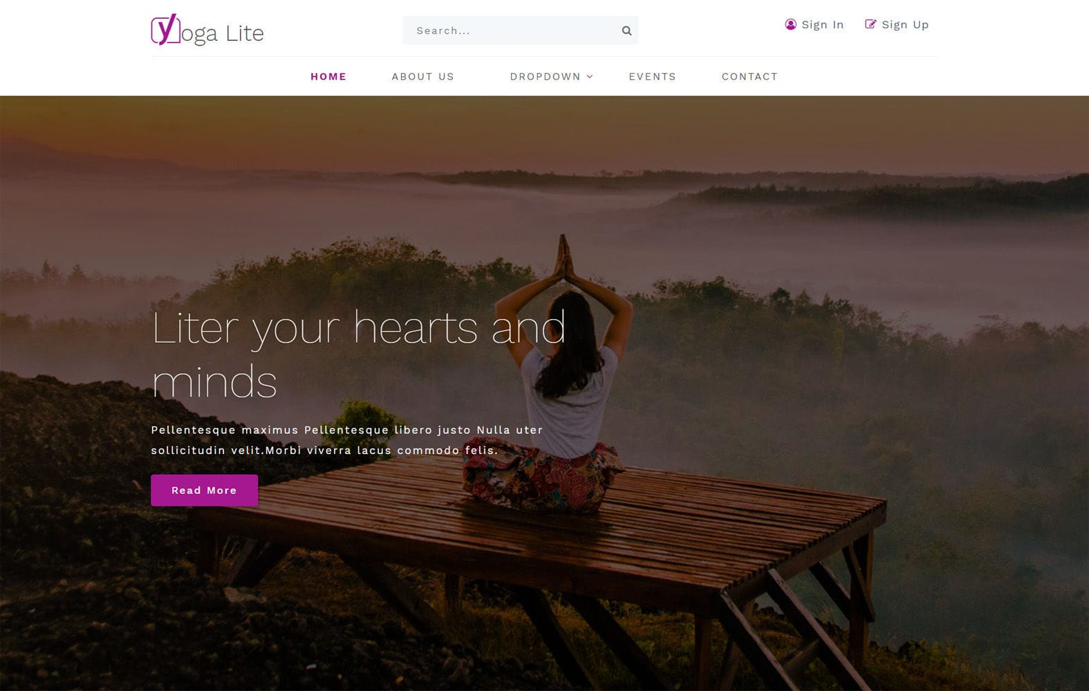 Yoga Lite a Sports Category Bootstrap Responsive Website Template Mobile website template Free