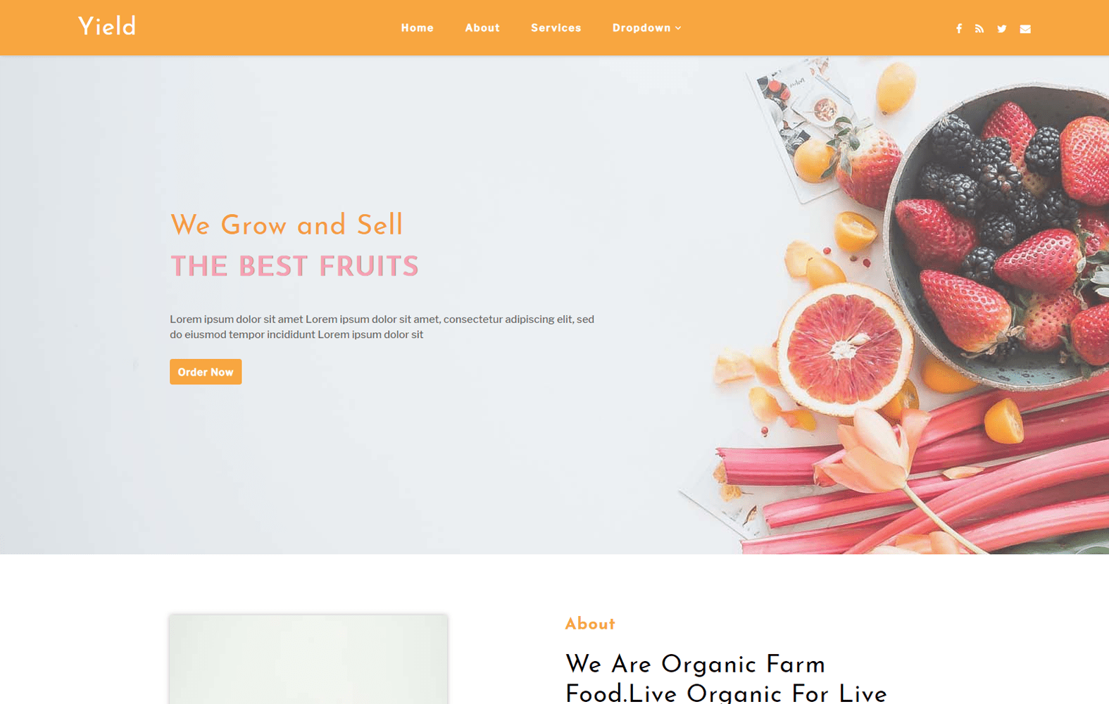Yield an Agriculture Category Bootstrap Responsive Web Template Mobile website template Free