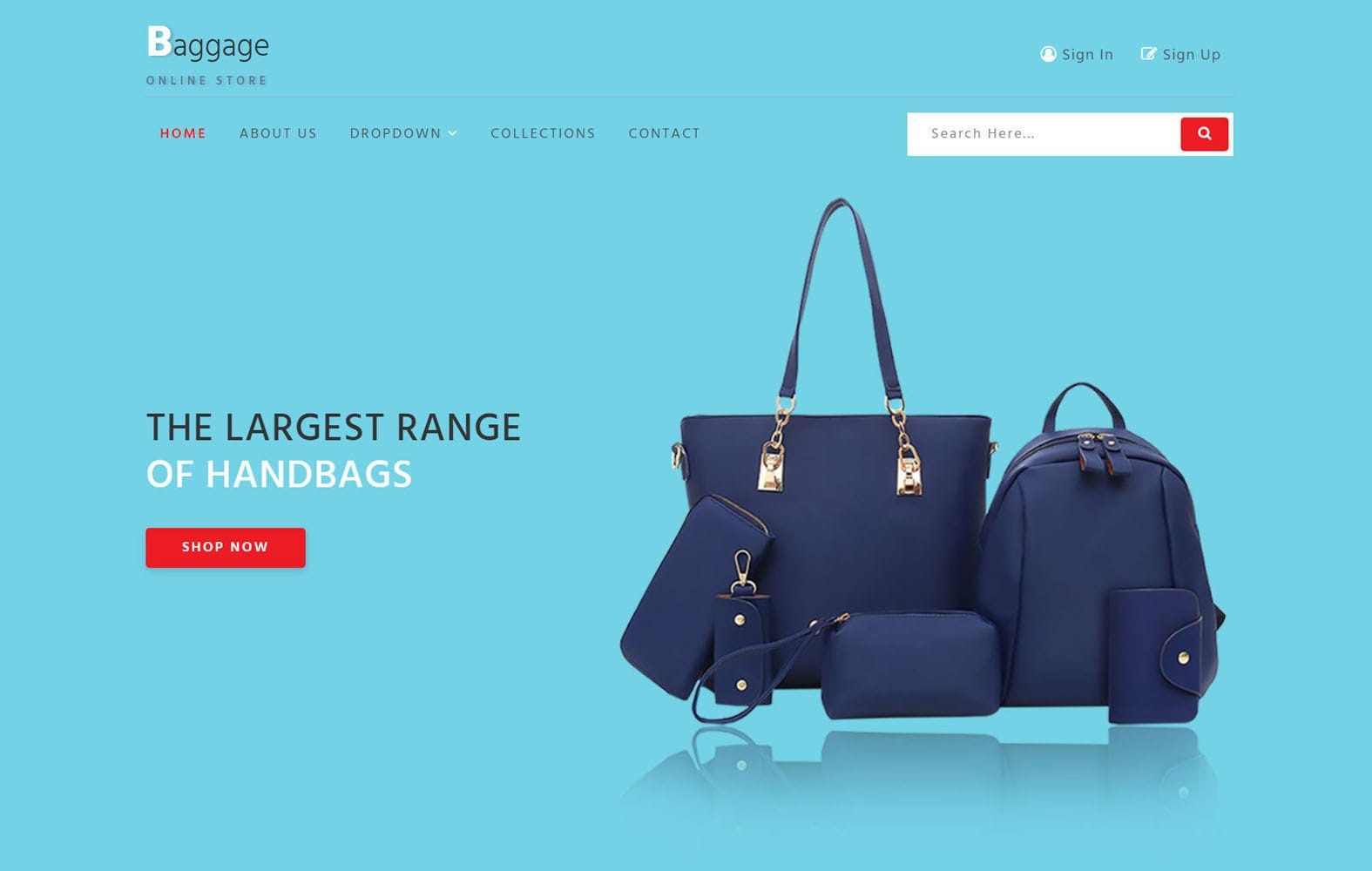 Baggage – E-commerce Category Bootstrap Responsive Web Template Mobile website template Free